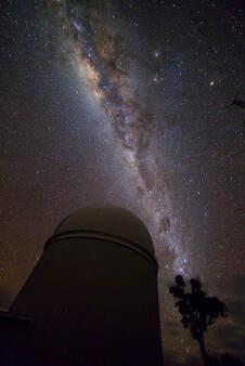 Vertical Milky Way over the AAT
