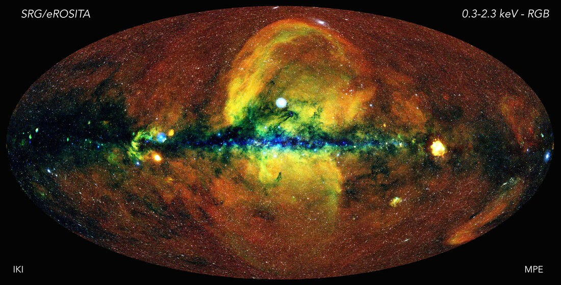 The energetic universe as seen with the eROSITA X-ray telescope.